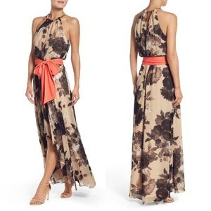Eliza j floral chiffon maxi dress